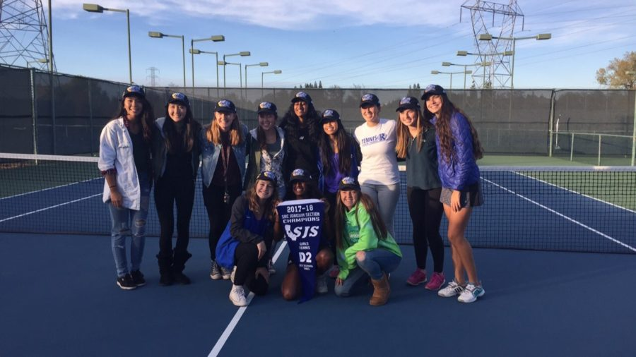 Girls Tennis Triumphs in Section Title Final
