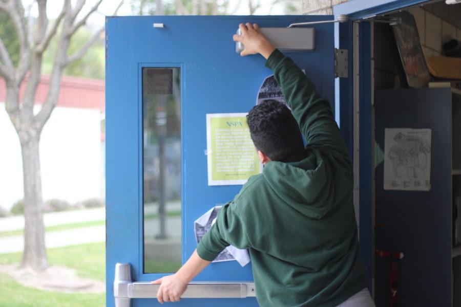 Magnetic locks for Rocklin High School Doors